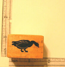 Goose Duck Bird Hunting Rubber Stamp Wood Mounted Stamp Psx 1983 Vintage