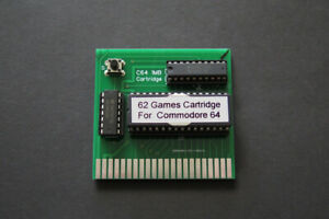 1 Megabyte, 62 Games Cartridge for the Commodore 64/128 SX64, 27C801, BRAND NEW.