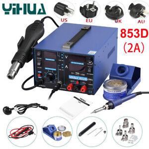 YIHUA 853D USB 2A Soldering Station Rework Hot Air Gun Solder Iron Welding Tool