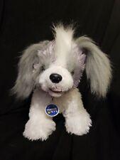"Build A Bear Dog Stuffed Animal Promise Pet Shih Tzu Gray and White 12"""