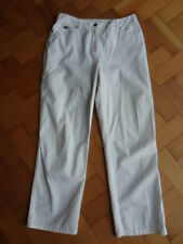 (204JUN) Size 12 *JAEGER* Smart white cotton jeans/trousers ladies/womens