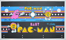 BABY PACMAN Control Panel Overlay Screen Printed - PA EXCLUSIVE!