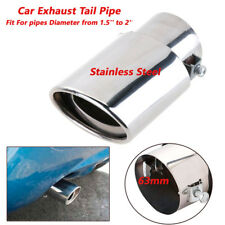 63mm Universal Car SUV Chrome Stainless Round Exhaust Tail Pipe Muffler Tips