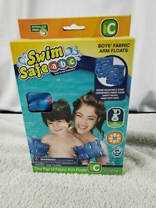 Swim Safe ABC Baby Arm Bands Blue Shark Inflatable Floaties Boys S/M 25-40lbs