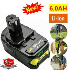 18V 6.0Ah Li-Ion Replacement Battery For Ryobi ONE+ Plus P108 P106 P107 P105 UB