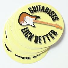 Wholesale Vinyl Stickers Guitarists Lick Better (Stratocaster Guitar)