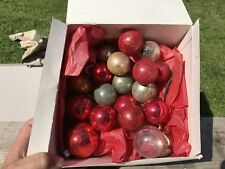 Antique Glass Ornaments, Some Hand blown Not Perfectly Round, Assortment