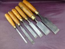 Vintage Tools - A Set of 6 x Vintage Firmer Chisels - Sorby & Marples