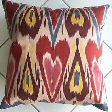 Ikat Deko Kissen Seide Orientalisch 45x45 Pillow Pude poduszka kudde silk cotton