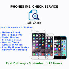 Fast IMEI Carrier Network SIM Unlock Status Check Report GSX For iPhone iPad
