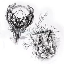 Gothic Skull Lizard Animal Flower Design Tattoo Reference Flash Sketch Book