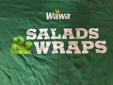 "WAWA ""MORE TASTE LE$$ GREEN - SALADS & WRAPS"" DOUBLE SIDED T-Shirt Medium M"