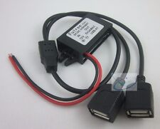 DC 12V to 5V 3A Dual USB Converter for IPAD IPHONE Car Power Regulator Step Down
