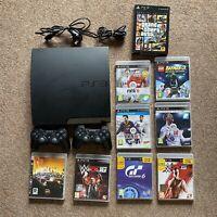 Sony Playstation 3 Slim 120GB CECH 2003A 2x dual shock& games Gta 5, fifa, wwe