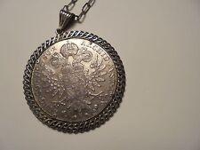 alter  Anhänger  Silber  gestempelt 835- gepunzt Maria Theresia Taler, Burg...