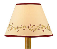 """Lamp Shade - Home Sweet Home Vine by Park Designs 10"""", 12"""" - Tan Red Star"""