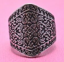 WIDE BALI STAINLESS STEEL RING WITH GREAT DETAIL Genuine Stainless Steel Size 9
