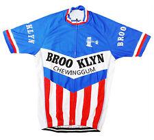 BROOKLYN RETRO VINTAGE CYCLING TEAM BIKE CYCLE SHORT SLEEVE SUMMER JERSEY