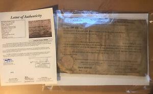Jsa James Monroe signed land grant President United States Auto Usa Document