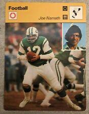 JOE NAMATH 1977 Sportscaster card #03-20 NEW YORK JETS