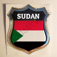 Pegatina Sudan 3D Escudo Emblema Vinilo Adhesivo Resina Relieve Coche Moto