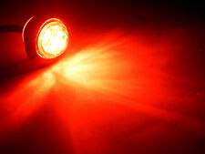 """Maxxima M09400RCL Red Clear 6 LED 1-1/4"""" Marker Light"""