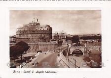 ROMA CITTÀ 152 CASTEL SANT'ANGELO Cartolina FOTOGRAFICA viaggiata 1953