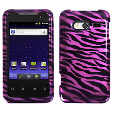 For MetroPCS Huawei Activa 4G HARD Protector Case Phone Cover 2D Hot Pink Zebra