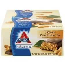Atkins Advantage Bar - Chocolate Peanut Butter - 1 Case of 12 bars (2.1 oz Bars)