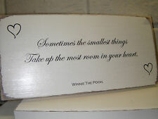 Shabby Chic Winnie The Pooh Quote Plaque. Wedding Gift Sign. 100% Solid Wood. #3