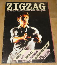 ZIGZAG MAGAZINE 1978 DAVID BOWIE COVER & CONTENT ~ SLITS RUNAWAYS ENO BEEFHEART