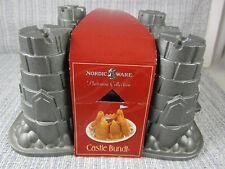 NEW! CASTLE BUNDT CAKE MOLD Pan Nordic Ware Platinum Collection