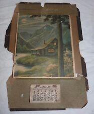 1928 Ice Cream and Milk Co Wall Calendar 14 x 10