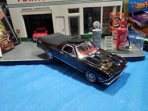 DANBURY MINT 1/24 BLACK 1968 CHEVY EL CAMINO SS 396 VERY NICE CAR 🚗