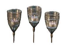 BOLTZE Gartenstab Windlicht, H 94 cm, Metall, Schwarz schwarz Eisen Sortier