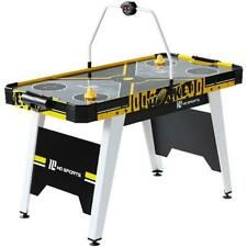Air Powered Hockey Game Table Overhead Electronic Scorer Pushers Pucks Included