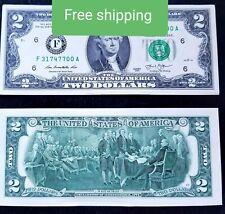 2  US Dollar Bill Uncirculated - FREE SHIPPING