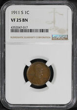 1911-S Lincoln Wheat Cent NGC VF-25 BN -157040