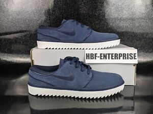 Nike Janoski G Navy Blue Suede Spikeless Golf Shoes Men's Size 9 NEW