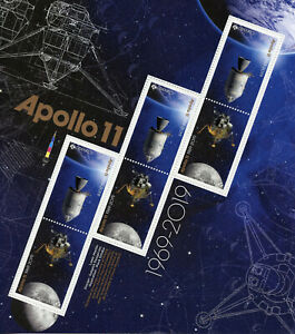 Canada Space Stamps 2019 MNH Apollo II Moon Landing 50th Anniv 6v M/S