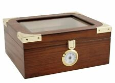 The Elegant 25-50 Cigar Glass Top Humidor