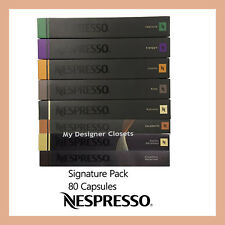 80 Capsules Nespresso Coffee Signature Value Pack Mixed Pod Caramel Vanilla Choc