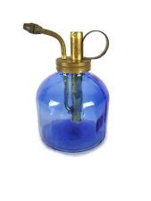 Cobalt Blue Atomizer Sprayer Mister Glass Brass Cbk
