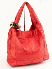 New Jimmy Choo Coral  Leather Hobo / Handbag with rings .