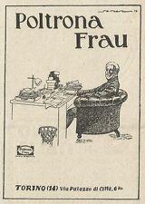 W3537 Poltrona FRAU - Torino - Pubblicità 1927 - Advertising