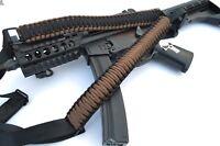 Tactical 550 Paracord Rifle Gun Sling Single Point Quick Detach DARK EARTH