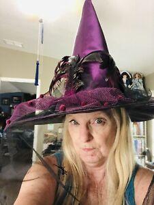 Fancy Witch Hat Purple