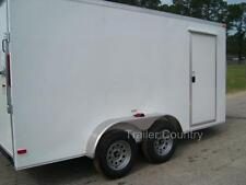 New 6x12 6 X 12 V Nose Enclosed Cargo Trailer With Ramp New 2021