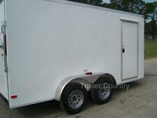 NEW 6x12 6 x 12 V-Nose Enclosed Cargo Trailer w/ Ramp - NEW 2021