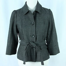 Banana Republic Womens Size 6 Blazer Jacket Gray Wool Blend Tweed Outerwear